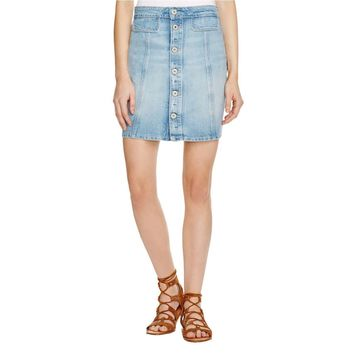 Paige Womens Mini Jean Denim Skirt