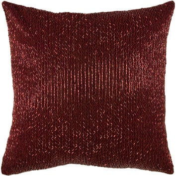 """Beaded Paprika Pillow Cover (18"""" x 18"""")"""