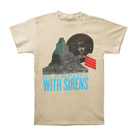 Sleeping With Sirens Men's  Mountain T-shirt Ivory Rockabilia