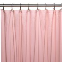 "Royal Bath Extra Heavy 8 Gauge Vinyl Shower Curtain Liner with Metal Grommets (72"" x 72"") - Pink"