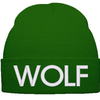 WOLF BEANIE WINTER HAT
