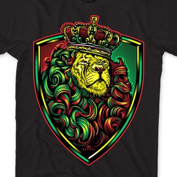 "Men's ""Crown Shield Rasta"" Tee by OG Abel (Black)"