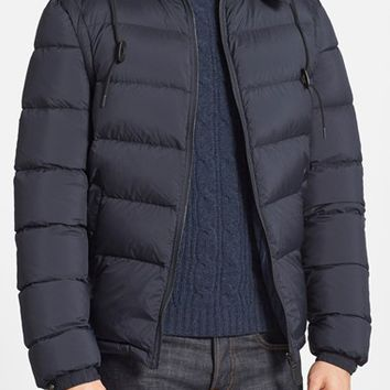Men's Burberry Brit 'Basford' 2-in-1 Trim Fit Waterproof Down Insulated Puffer Jacket with Removable Sleeves