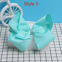 8 Inch Large Colorful Bow Hair Clip Big Bowknot Hairpins girl barrettes jojo Hair Accessories 2017 Newest