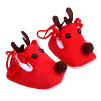 Deer Baby Shoes Christmas Cotton Baby Toddler Shoes = 1930181764