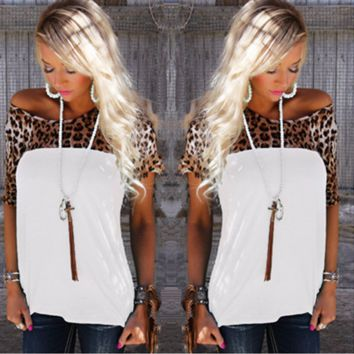 Stylish Leopard Casual Trendy T-Shirt
