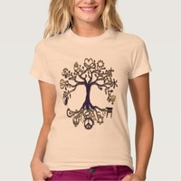 Peace Tree Blue and Gold Tshirt
