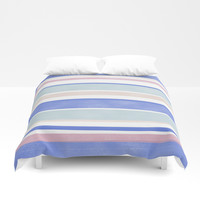Between The Lines Duvet Cover by sm0w