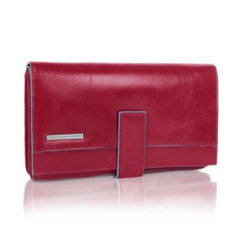 yves saint laurent clutch bags - monogram leather zip wallet, red