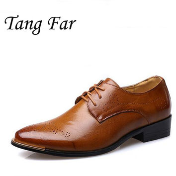 Men Oxfords Formal Shoes, Leather Men Flats , Business Brand Leather Men Shoes, Designer Men Dress Shoes, Size 45