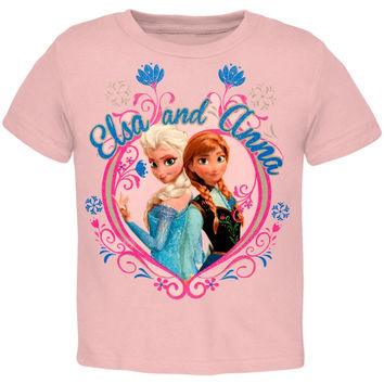 Frozen - Anna & Elsa Flower Frame Toddler T-Shirt