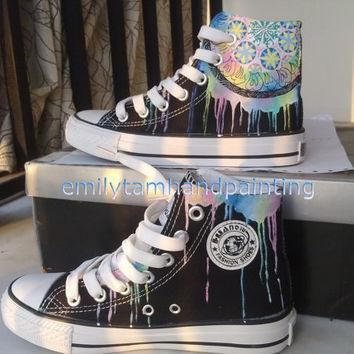 dreamcatcher converse sneakers custom shoes hand painted high top