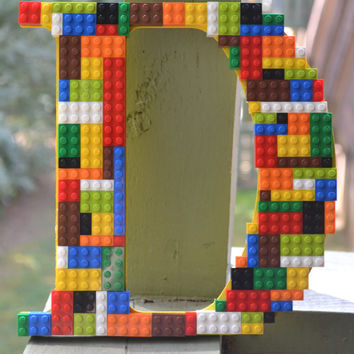 Legos- Nursery- Wooden Letters-  Home Decor- Boys Room- Wall Art- Lego Wall Decor- Lego Art-