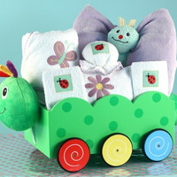 Caterpillar Wagon Welcome Baby Girl Gift Set