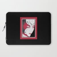 Butterfly Girl #4 Laptop Sleeve by drawingsbylam