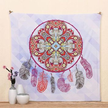 LMF9GW 2016 Hot Selling Feather Hippie Tree Mandala Tapestry Wall hanging Dorms Tapestries Beach