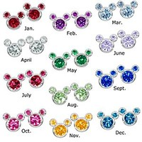 Birthstone Mickey Mouse Earrings | Disney Store