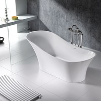 Vienne Solid Surface Modern Bathtub 71""