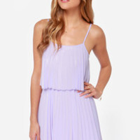 Pleats on Earth Lavender Dress