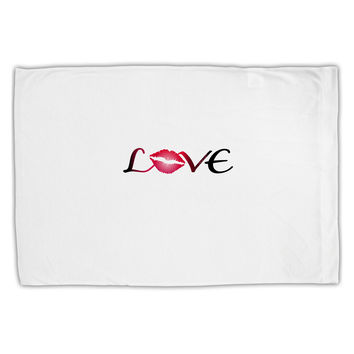 Love Kiss Standard Size Polyester Pillow Case