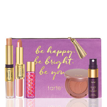 limited-edition be happy. be bright. be you. discovery set from tarte cosmetics