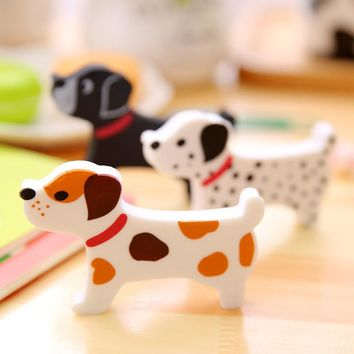 1Pc Stationery Supplies Kawaii Cute dog Cartoon Eraser pencil erasers School Office Erasers for kids Prize Writing Drawing Gift