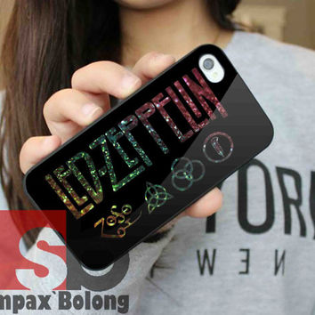 Led Zeppelin on Glitter for Samsung S3, S4 and iPhone 4/4S, 5/5S, 5C - Hard Plastic Case, Rubber Case