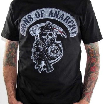 Sons Of Anarchy T-Shirt - Patch Distressed