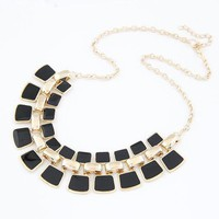 2016 Enamel Square Chain Choker Collares Necklaces & Pendants Statement Maxi Colares Femininos for Women Jewelry Bijoux