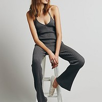 Knitz by For Love & Lemons Womens Back to Basic Cable Jumpsuit