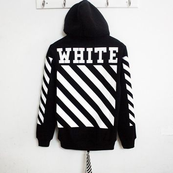 Long-Sleeved Letter Printing Hooded Sweater