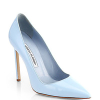 BB Patent Leather Point-Toe Pumps