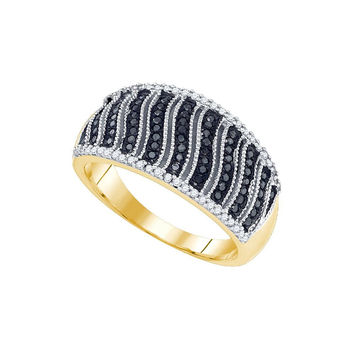 3-8Carat-Diamond MICRO-PAVE BLACK RING