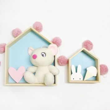 Wooden Children Hanging House Frame