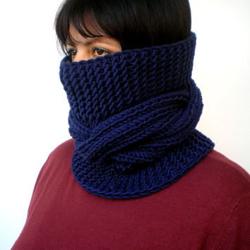 RESERVED Cream Tour Fashion Cowl Super Soft Wool Neckwarmer Unisex Chunky Cabled Cowl