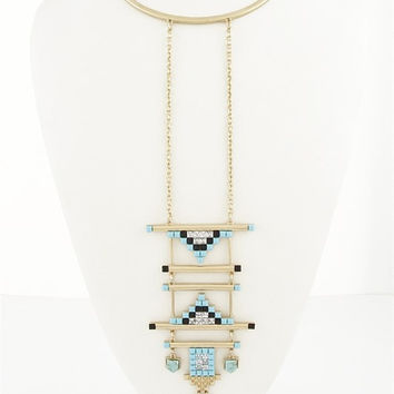 Tetris Hanging Necklace