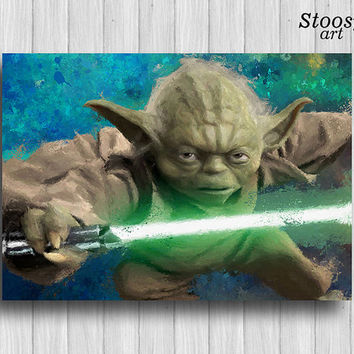 Master Yoda print star wars nursery decor
