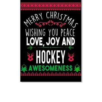 Merry Christmas HOCKEY Funny T-Shirt
