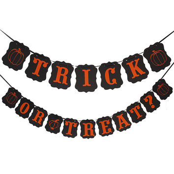 Hot Vintage Stylish 10.5*13 18Cards Kraft Retro Paper String Banner Flag Party Halloween Decoration Party Supplies