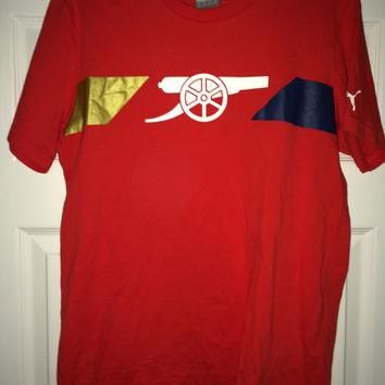 Sale!! Vintage Puma ARSENAL FC Soccer Shirt AFC England Football Jersey