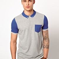 ASOS Cut And Sew Polo at asos.com