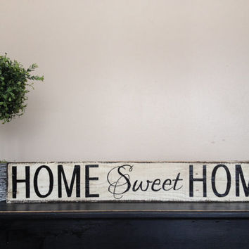 "Lovely Handmade ""home sweet home"" sign"