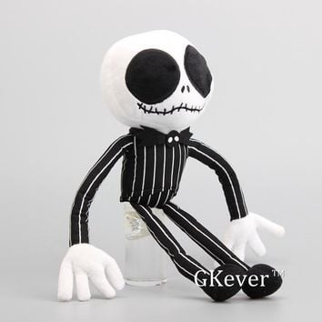 "New Arrival Nightmare Before Christmas Jack Skeleton Plush Toy Stuffed Dolls 13"" 33 cm Kids Present"