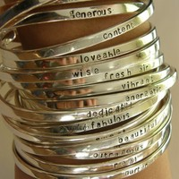 Say What You Want To Say ---The price is for ONE ---up to 20 lowercase letters - -Say Anything On YOUR cuff---Custom  By SimaG