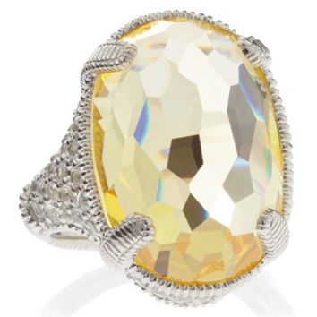 Glacier Canary Crystal Pave Ring