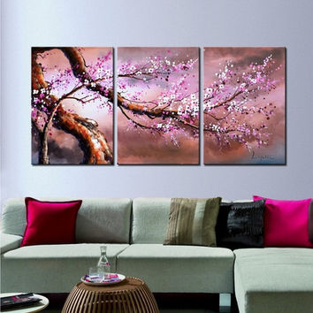 Cherry Blossom painting, Cherry blossom art, floral painting, oil painting, large wall art, Hybrid Art Gallery, Cherry blossom oil paintings