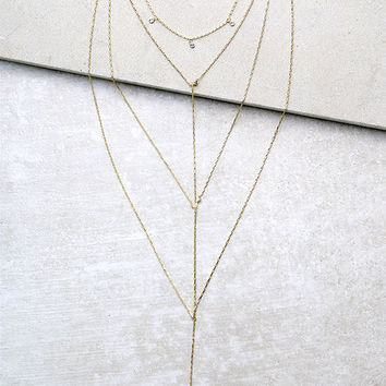 See You Shine Gold Necklace Set
