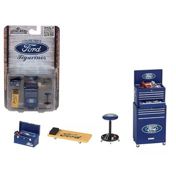 Ford 4 Pieces Garage Tools Set For 1-18 Scale Models by Motorhead Miniatures