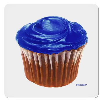 "Giant Bright Blue Cupcake 4x4"" Square Sticker by TooLoud"