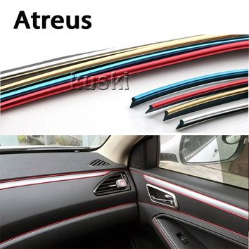 Atreus 3m Car Interior Body Decoration Strip Automobiles Stickers For BMW e46 e39 e60 e90 e36 Mini cooper Audi a4 b6 a3 a6 c5 b8